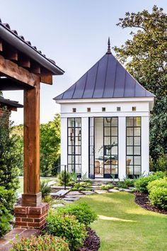 Small Outdoor Spaces, Outdoor Rooms, Outdoor Gardens, Outdoor Living, Outdoor Decor, Pavillion, Garden Pavilion, Garden On A Hill, Backyard Makeover