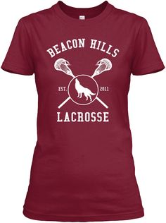 Beacon Hills Est. 2011 Lacrosse Cardinal Red T-Shirt Front