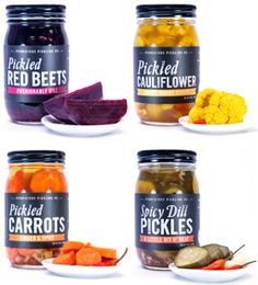 The Pickles: Pickled Red Beets Pickled Cauliflower: Sweet Hurry Curry Pickled Carrots: Ginger & Spice Pickled Red Onions: Sweet 'N Sour Pickled Beans. http://www.savorcalifornia.com/template2.php?id=540&img=-1