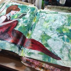 Amazing what will come out of some random paint #art #artjournal .@thestromboshow #strombo