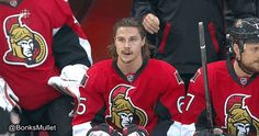 Erik Karlsson gives the empty netter to Clarke MacArthur : hockey