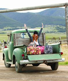 I know this is a Vera Bradley ad, but I pinned it cause I think it looks like FUN. Let's pack some bags and get in the back of that trusk and GO