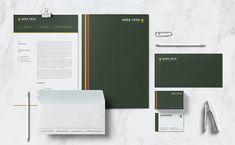 Aera Tech Stationary Keynote Template, Brochure Template, Flyer Template, Stationery Templates, Psd Templates, Brand Guidelines Template, Stationary, Branding Design, Tech