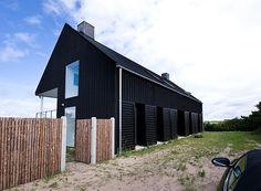 Summer house in Denmark happens to be completely white on the inside.