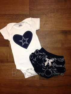 e6eb26f1d Dallas Cowboys Girls Outfit by BebeSucreOnline Dallas Cowboys Onesie