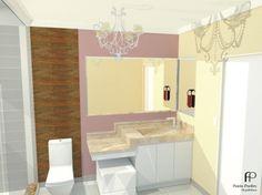 madeira parede banheiro