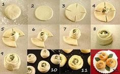 Delicious Pizza Roses: Your next dinner party go-to Pizza Rosen, Comida Diy, Bread Shaping, Snacks Für Party, Creative Food, Creative Pizza, Diy Food, Food Ideas, Diy Ideas