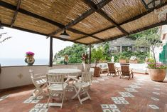#WhereToStayAlongAmalfiCoast: Casa Orizzonte, a 6-minute walk from Fornillo Beach, offers terrace, air conditioning, TV with satellite channels, WiFi... Europe Holidays, Italy Holidays, Holiday Lettings, Positano, Amalfi Coast, Property Management, Stairways, Terrace, Pergola