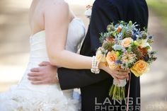 A gorgeous fall bridal bouquet, by one of our preferred vendors, A Garden Party Florist