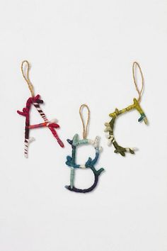 anthropologie inspired christmas ornaments!! $8 would be neat if i could make this