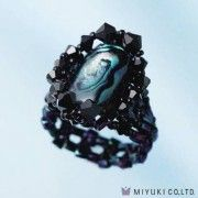 Miyuki Bead Jewelry Kit BFK 76 Paua Shell Deep Ring