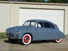 1950 Tatra T600 Tatraplan. Learn more about Tatra cars - article, video and slides at: http://www.examiner.com/article/tatra-a-rare-car-that-influenced-many-others?cid=db_articles