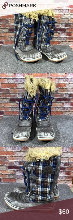 Sorel winter boots Overall good condition. Tons of life left in them. Broken in but not worn out. The silver tabs that are normally on the top of the sorrel boots have been removed. Pictures show exact wear/condition Sorel Shoes Winter & Rain Boots