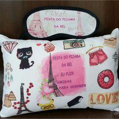 Kit Festa do Pijama Paris Personalizados