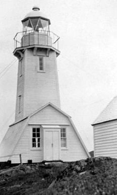 Fort Point Lighthouse in 1919  Photograph courtesy Canadian Coast Guard