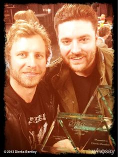 2 AWESOME guys :) Dierks Bentley and Chris Young :) Both receiving  a much deserved award :)