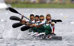 Team Hungary won the women's kayak 500m. Team Germany placed in 2nd, and Team Belarus placed in 3rd.
