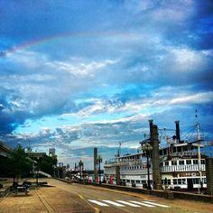 Rainbow over the Belle of Louisville!  - Louisville, KY