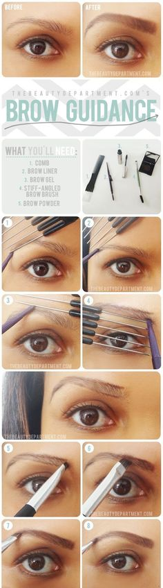 Eye brows: Step by step