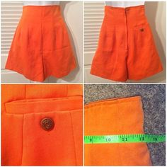 Berge vintage culottes with back pocket, orange Berge vintage culottes with back pocket, orange, size 7, fits like a 0 or 00 [remember, these are vintage!] SO CUTE! Berge Shorts