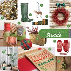 Rustic Wood Type Holiday Inspiration Board | Ellinée | handcraft your life