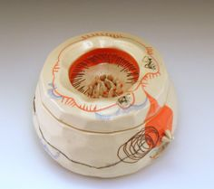 Grace Sheese Jar - Ghost Stories porcelain, decals and wire, 2013