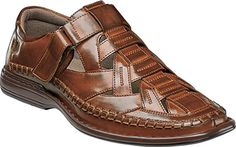 Stacy Adams Men's Biscayne Closed Toe Sandal 25025 Cognac Synthetic Size 8 M, Brown Fashion Sandals, Sneakers Fashion, Sandro, Closed Toe Sandals, Stylish Sandals, Mens Boots Fashion, Best Sneakers, Casual Boots, Hats For Men
