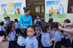 """""""Hair time"""" by TravelPod blogger mrsdee from the entry """"Battambang to Svay Sisiphon"""" on Tuesday, February  2, 2016 in Svay Sisiphon, Cambodia"""