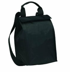 """Insulated Cooler Lunch Bag, Black by BAGS FOR LESSTM by Bags For Less. $9.99. Webbed carry handle. Top velcro closure, Inside metallic fabric with clear PEVA liner. Black, 70D Polyester 6.75"""" W x 10.5"""" H x 6"""" D. Adjustable/non-detachable shoulder strap with plastic hardware. Side mesh pocket for holding cans. BAGS FOR LESSTM   This Insulated Cooler Bag has quality features which help separate them from the average cooler bag. For starters, these lunch bags are extremely a... Shoulder Strap, Lunch Bags, Starters, Organization, Store, Black, Kitchen, Organisation, Baking Center"""