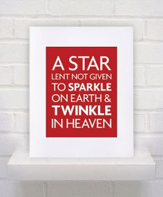 Star Lent Not Given Quote  11x14  poster print by KeepItFancy, $25.00