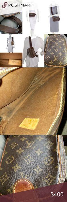 10e1c9cb687dcf Authentic LOUIS VUITTON Monogram Pochette Gange. Canvas LeatherVuitton BagMonogram  CanvasFanny PackLouis ...