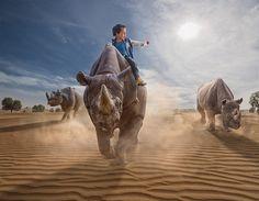 Adrian Sommeling photoshop son fils dans des scènes fantastiques 2Tout2Rien