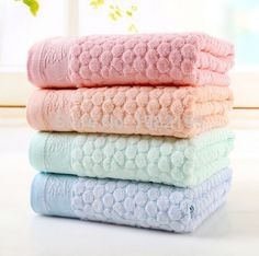 Beautiful 100% Bamboo 140x70cm Bath Towels 4 Color Options