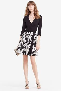 DVF Jewel Floral Embroidered Wrap Dress