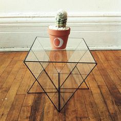 Triangular glass display case by FloralIslands on Etsy, $130.00