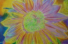 """Sundelicious"" 24 x 36"" watercolor crayon on Aquabord, 2016. By Cris Fulton, Bowman, North Dakota."