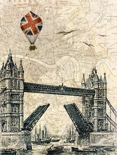Tower Bridge Balloon by Marion McConaghie - art print from King & McGaw