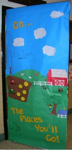 This site has a bunch of great Dr. Seuss theme door decorating ideas for Read Across America Day.