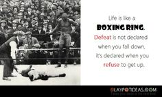 life is like a boxing ring