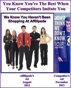 Affilipede's Advertising Evolution ~ Part 14 ~ We're  The Best ~