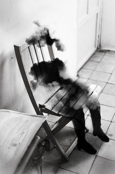 Dromerige zwart wit foto manipulaties