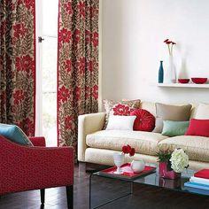 gardinen | landhaus | pinterest | dekoration and fur - Wohnzimmer Beige Rot