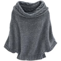 HAYWARD Cape-Pullover ($145) ❤ liked on Polyvore featuring tops, sweaters, outerwear, grey, shirts, grey top, gray top, gray sweater, gray shirt and grey sweater