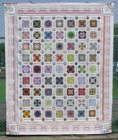 """A while back I posted a picture of """"Star Crossed"""", a small quilt I made after viewing a similar quilt made by Lucy Boston and displayed. Sampler Quilts, Amish Quilts, Cross Patterns, Quilt Patterns, Dear Jane Quilt, Cross Quilt, Quilt Border, Beaded Cross Stitch, Quilt Festival"""