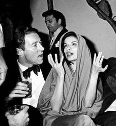 Halston and Bianca Jagger at Studio 54