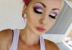 Purple and white cut crease!