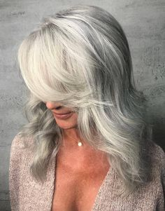 58 Silver Hairstyles for Women Over 50 Long Layered Hair Straight hairstyles Silver women Fringe Hairstyles, Straight Hairstyles, Cool Hairstyles, Official Hairstyle, Straight Layered Hair, Sophisticated Hairstyles, Hairstyle Look, Silver Hair, Hair Today