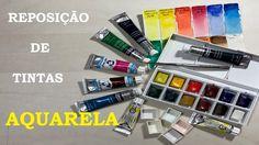 Reposição de Tintas - Aquarela - Estúdio Brigit