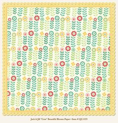 Papier 30x30 - My Mind's Eye - Quite Contrary - Jack & Jill - Cute - Beautiful Blooms Paper (ozdobne brzegi) - 1029 Na-Strychu
