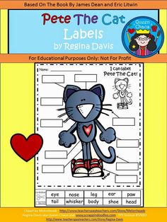a ton of free Pete the Cat printables, scroll through whole post
